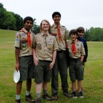 Boy Scouts who organized kids' fun runs