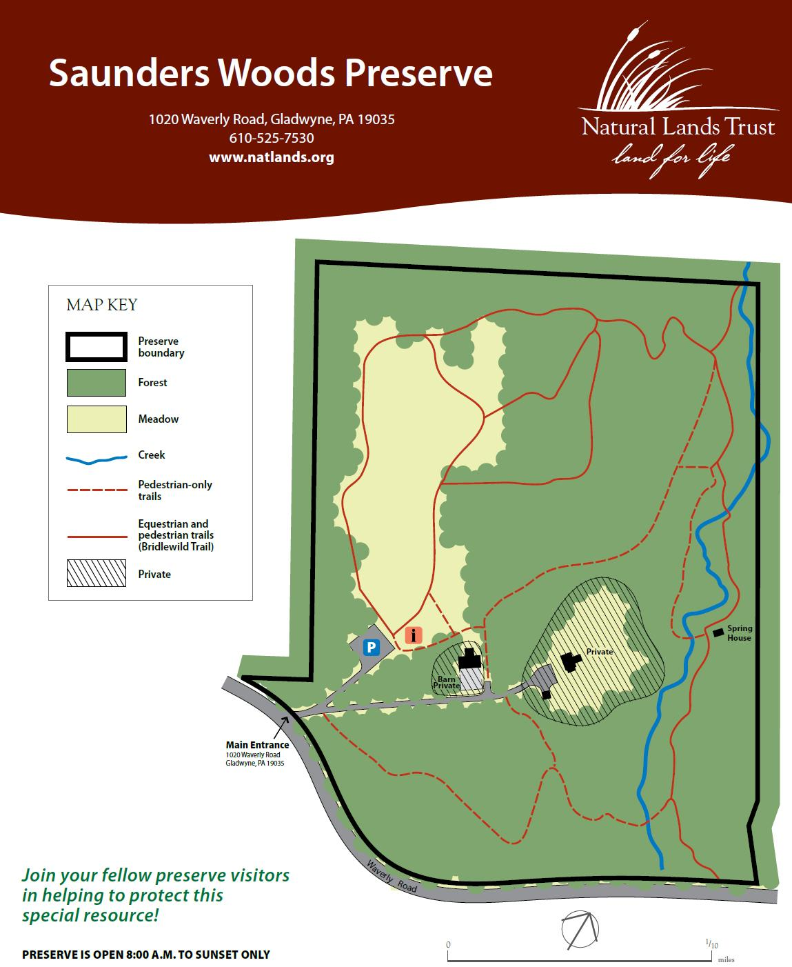Saunders Woods map