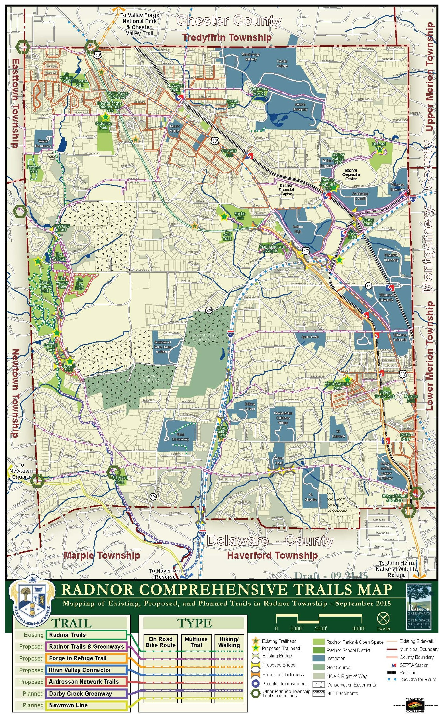 Radnor Comprehensive Trails Map